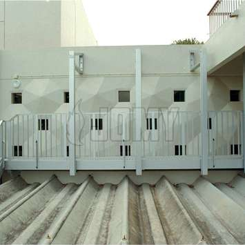 Anodised aluminum walkway and stairs