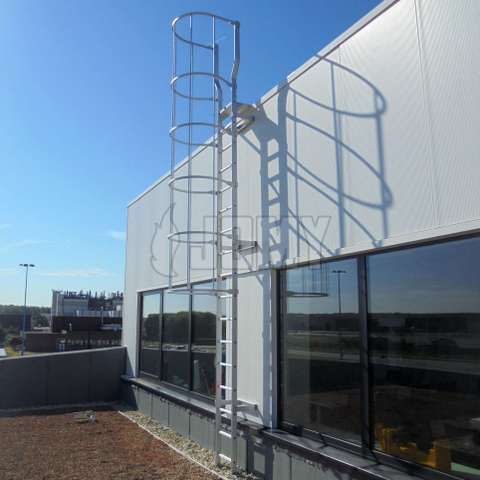 Cage ladder: industrial quality permanent egress and access solution.