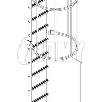 Cage ladder dimensions