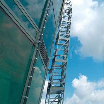 Details van een hellende hangende ladder - Building Maintenance Unit