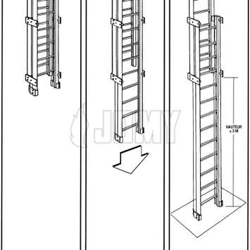 Drawing of a counterbalanced aluminum ladder_0_23_