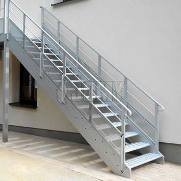Evacuation stairs: the ideal collective egress solution.