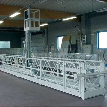 Hangbrug met telescopisch werkplatform - Building Maintenance Unit