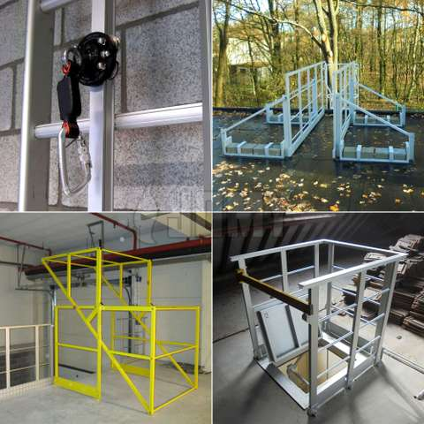 Individual or collective fall protection.