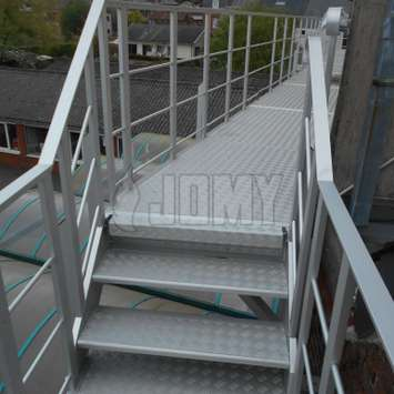 JOMY walkways are engineered for easy and safe passage at heights.
