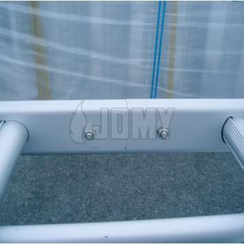 Joining together twe JOMY aluminum ladder parts