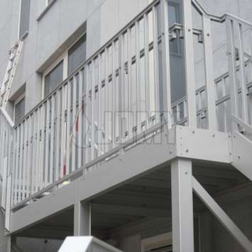 Jomy stairs with double handrail
