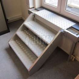 4 step aluminium stair for window access in case of a fire evacuation.