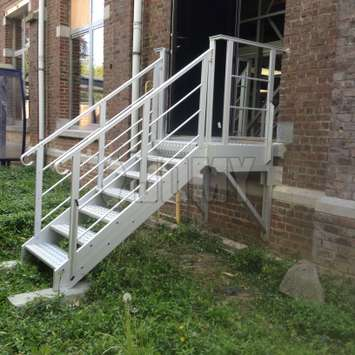 Stairs for accessing the garden