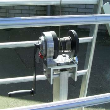 Winch used to adjust the height of the JOMY Tanker Ladder.