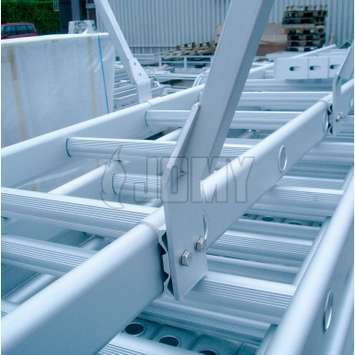 Jomy Cage Ladder Industrial Quality Permanent Egress And