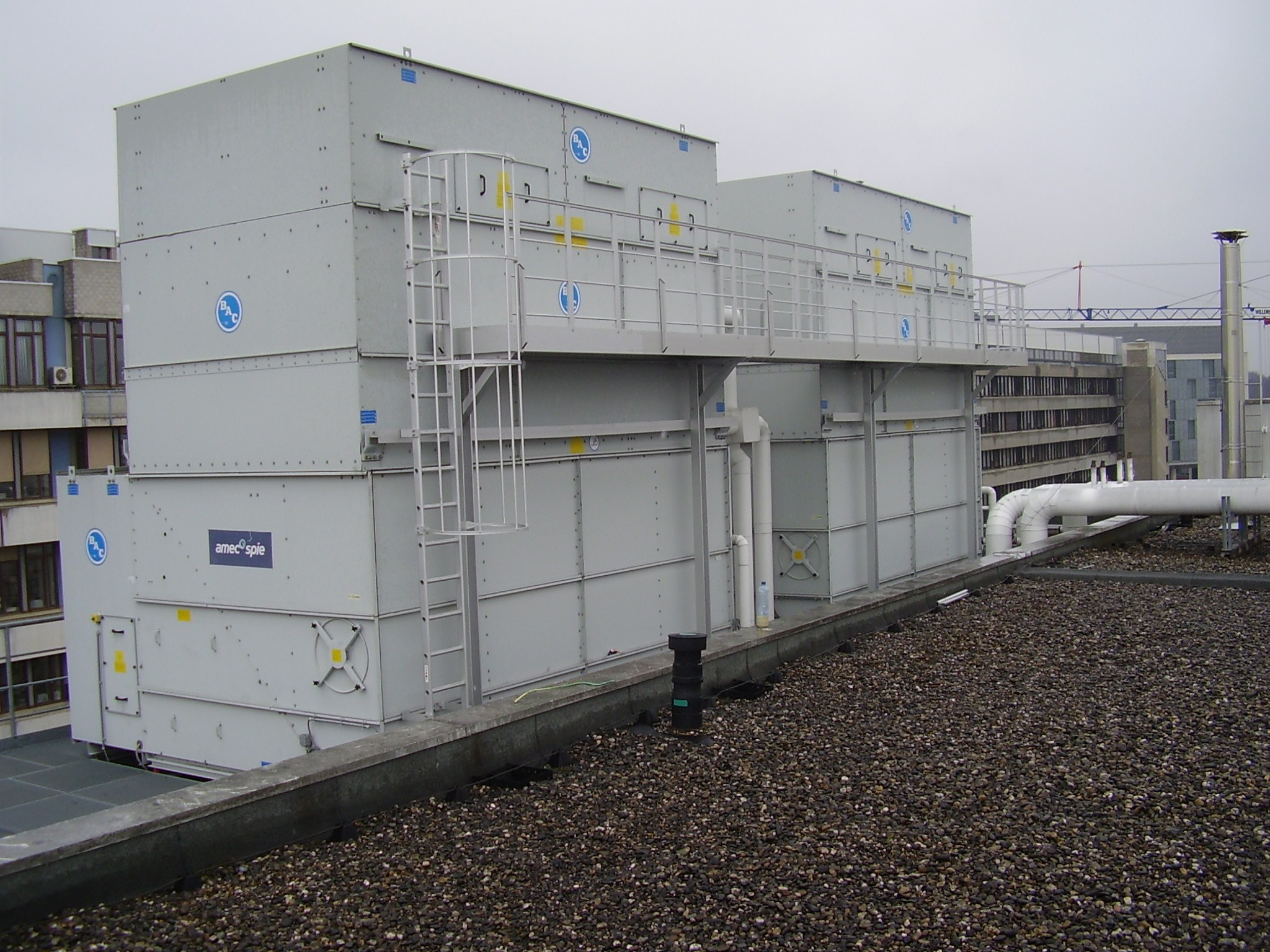Access to cooling towers