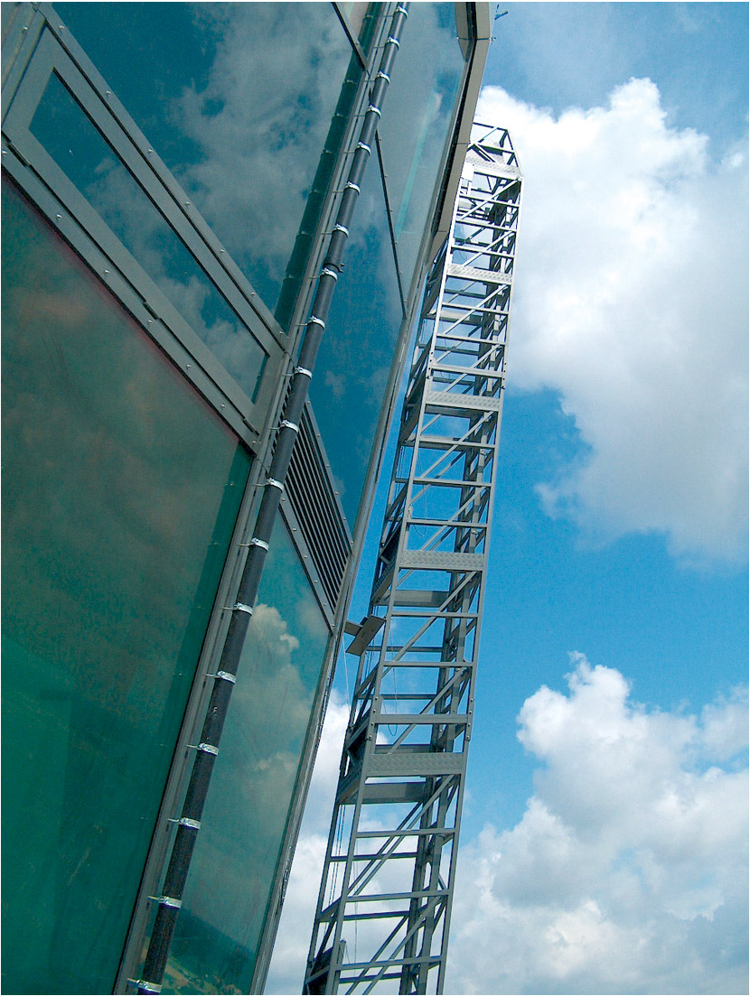 Detail of a reversed inclined hangladder