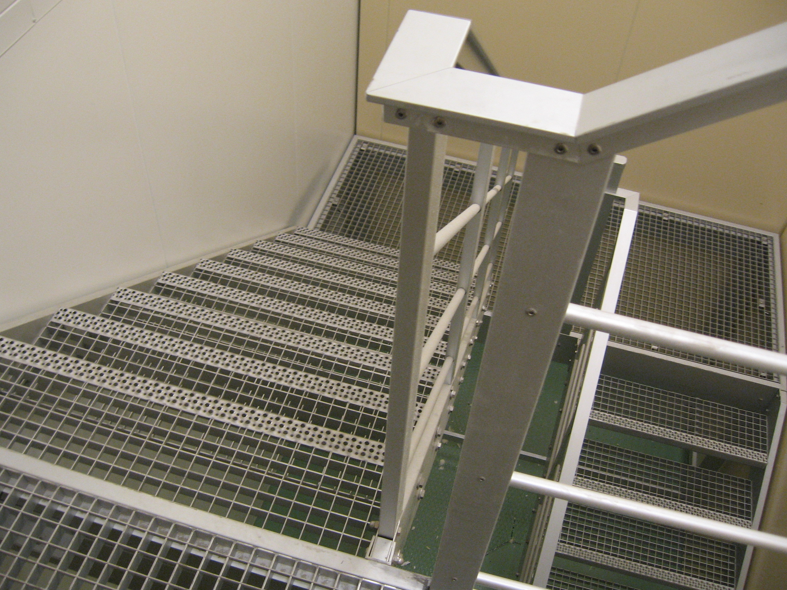 Interior aluminum stairs