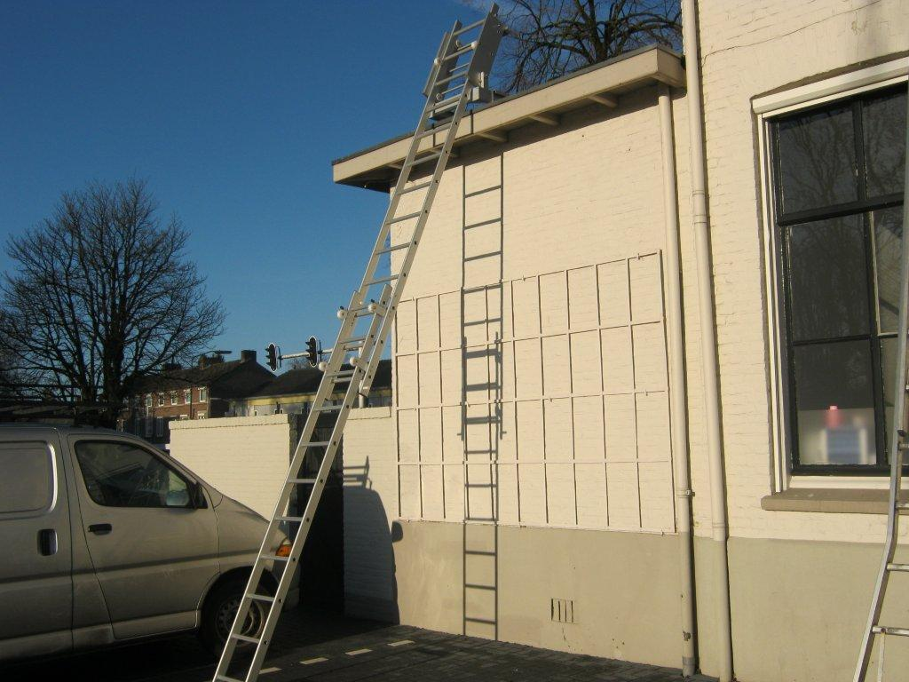 JOMY aluminum rooftop gliding ladder