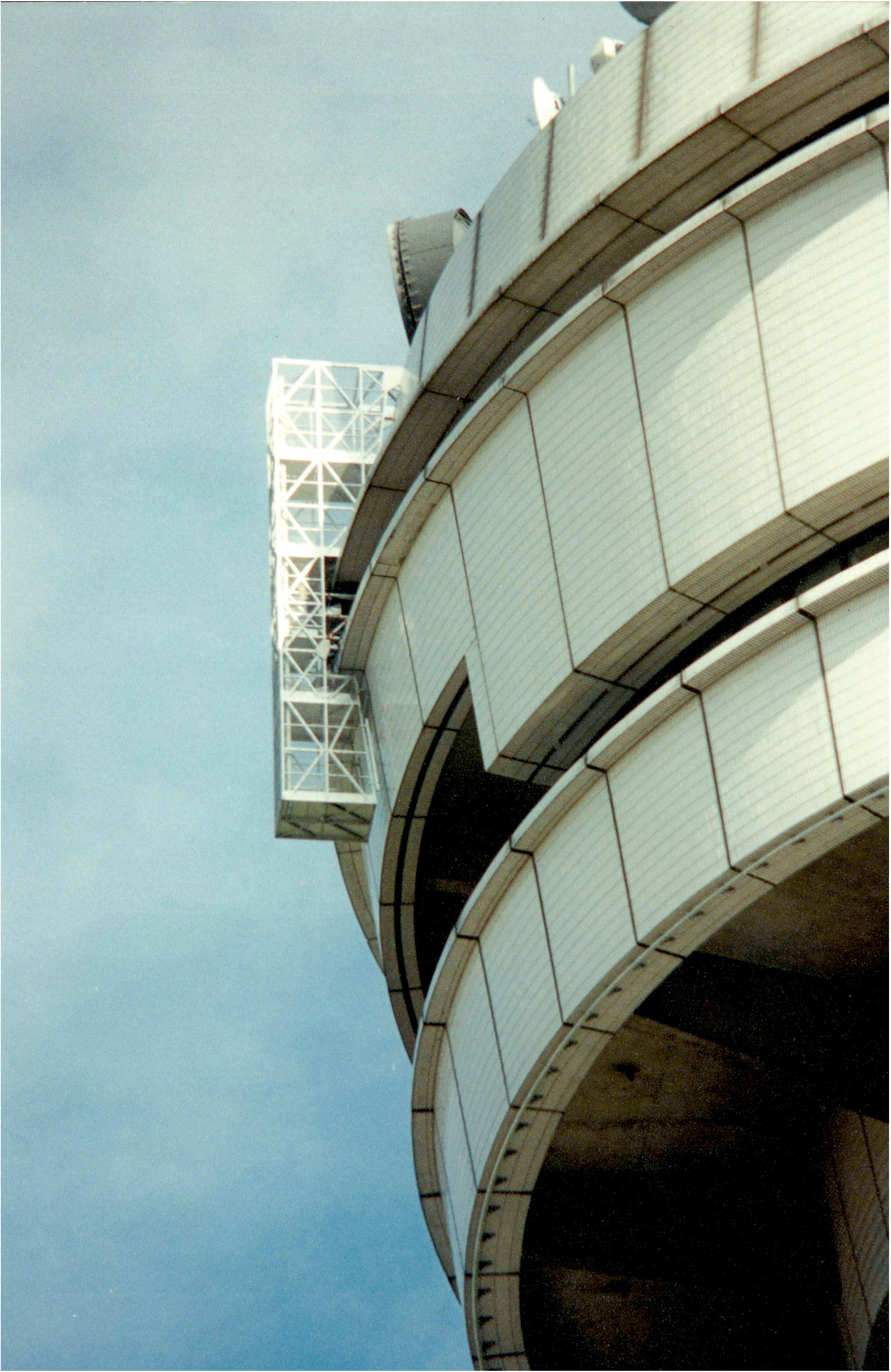 JOMY hanging ladder on an aircontrol tower