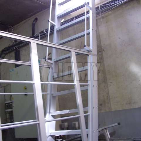 stepladder in an industrial environment